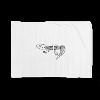 お絵描き看護師のレオパードゲッコーロゴグッズ Blankets