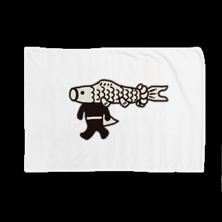 こいのぼりマン@加須市の【期間限定】ジャンボこいのぼりマン Blankets