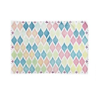 水彩モロッカンタイル風 Blankets