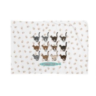 豆つぶのTabbies Cat(集合/肉球ver) Blanket