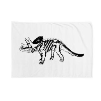 トリケラトプス骨格 Blankets