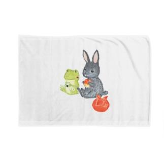 パトちゃんとケロちゃん(背景なし) Blankets