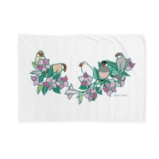 文鳥とサンパラソル Blankets