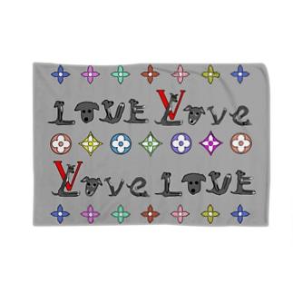 LOVEブランケットグレー Blankets