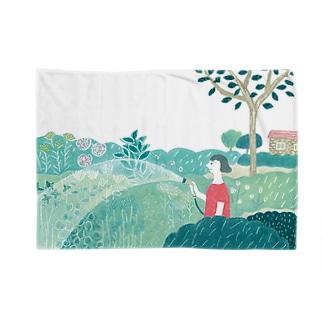 朝のシャワー Blankets