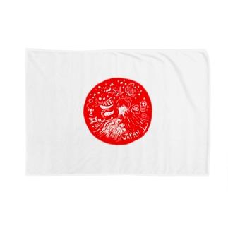 日の丸JAPAN ブランケット