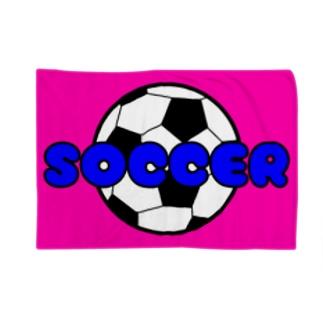 サッカーボール柄(ピンク) Blankets