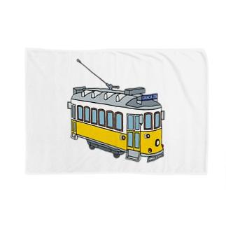 特大リスボントラム Blankets