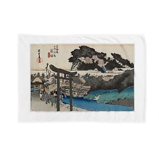 藤澤 (遊行寺) 東海道五十三次 (保永堂版) 歌川広重 Blankets