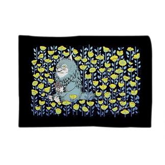 お花畑とオオカミ Blankets