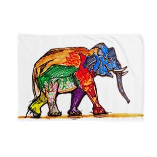 オサレゾウ Blankets