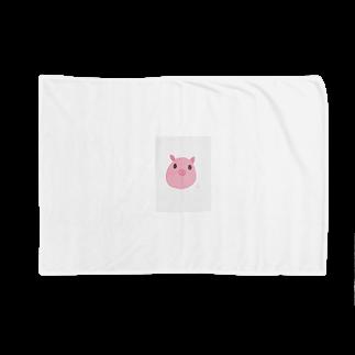 かな工房のぶーぶーピンク Blankets