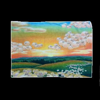 ひつじ好きの未草のギャラリーの夕焼け雲ひつじ Blankets