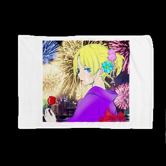 omu_na0523の夏まつり花火とりんご飴 Blankets