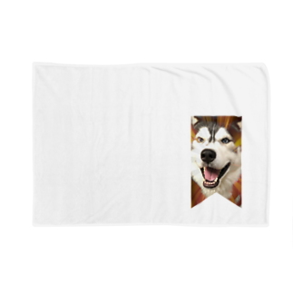 Dream Dog World 【夢犬】のハスキー タペストリー Blankets