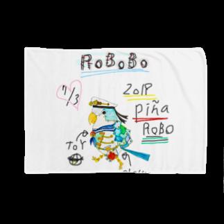 ねこぜや のROBOBO「ぴにゃロボ」 Blankets