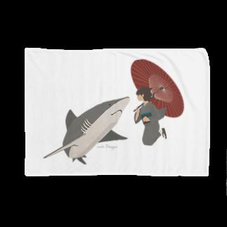 イラストレーター さかたようこのサメと出会うさめ子さん。 Blankets
