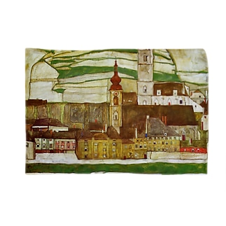 Art Baseのエゴン・シーレ / 1913 /Stein on the Danube, Seen from the South / Egon Schiele Blankets