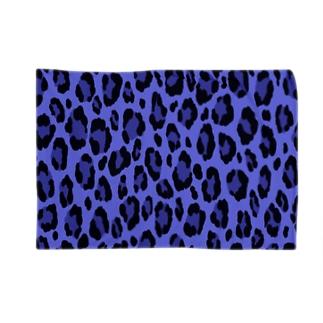 ヒョウ柄(ブルー) Blankets