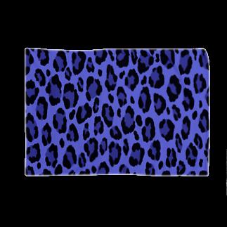 みや猫のヒョウ柄(ブルー) Blankets