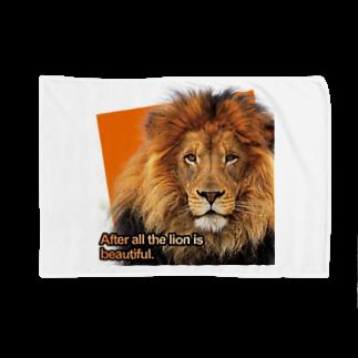 キャッツハンド:suzuriショップのやっぱりライオンはきれい! Blankets