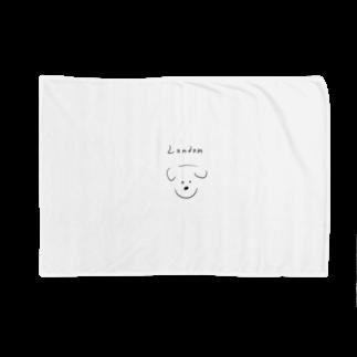 Maison PommeのLondon dog -Maison Pomme Blankets