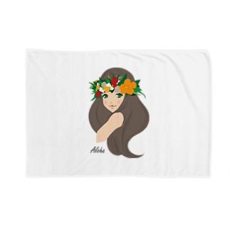 Hula girl 「レイ・ポオ」 ブランケット Blankets