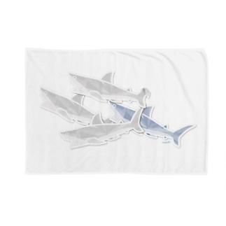 サメ の 重なるブリリアント シール Brillant SAME Seals 002 〈白地推奨〉 Blankets