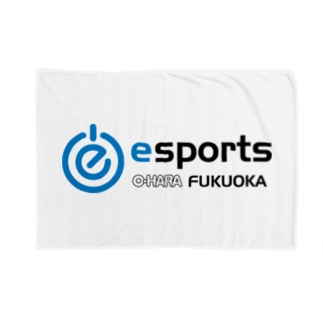 eスポーツ大原福岡 横ロゴ Blankets