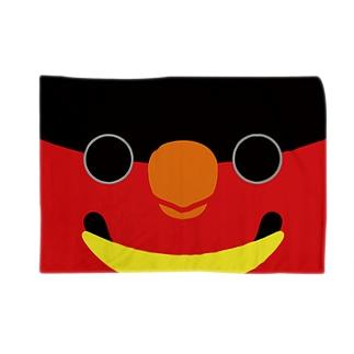 ヨダレカケズグロインコの顔 Blankets