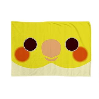 シロオカメインコの顔 Blankets