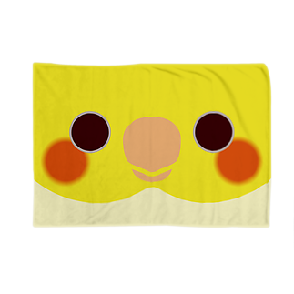 いんこ屋堂のシロオカメインコの顔 Blankets