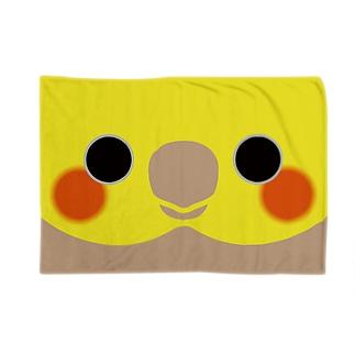 いんこ屋堂のシナモンオカメインコの顔 Blankets