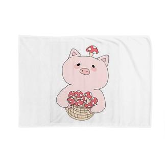 きのこ狩り豚ちゃん Blankets