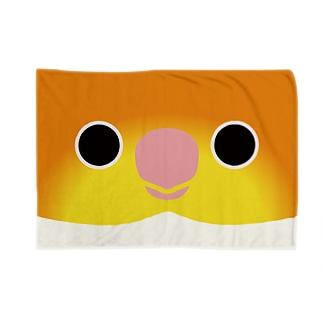 シロハラインコの顔 Blankets