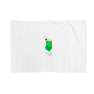 NIKORASU GOのメロンクリームソーダ@文字なし Blankets