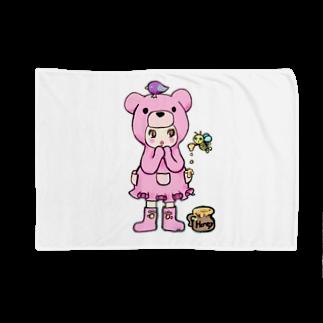 Suzuki Satomi イラストショップのベアミちゃん Blankets