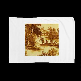 J. Jeffery Print Galleryのトワルドジュイ Toile de Jouy Blankets