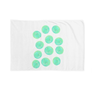 水草のグリーン玉いっぱい Blankets