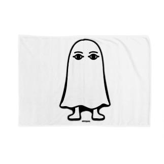 エジプトの神様★メジェドさま★仁王立ち-モノクロ Blankets