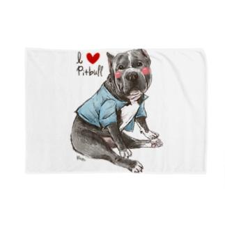 I love pitbull❤︎ Blankets