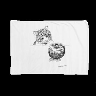 イノリシ シンの猫とりんご Blankets