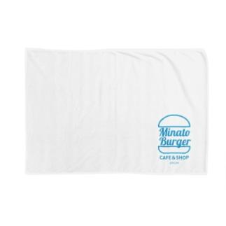 MinatoBurgerグッズ(ブルー) Blankets