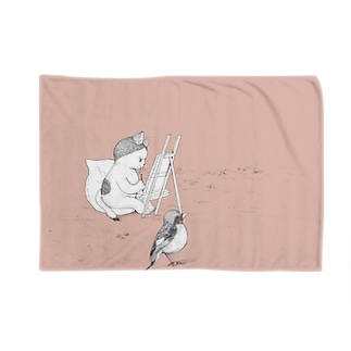 猫と鳥 02 Blankets