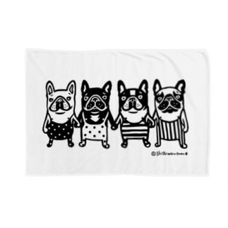 shishimaru-gmenのfrenchbulldog4 Blankets