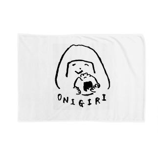 陽気なおにぎりガール Blankets