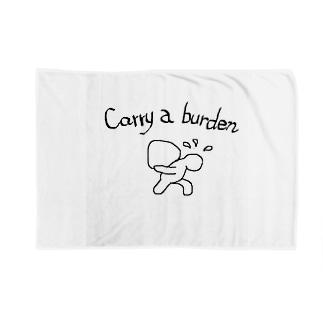 carry a burden Blankets