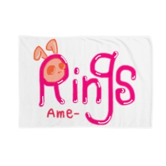 Ame-Ringsのロゴ(ピンク) Blankets