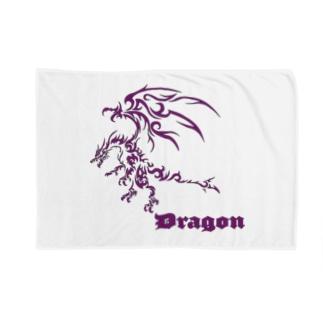 ドラゴンⅦ(紫色) Blankets