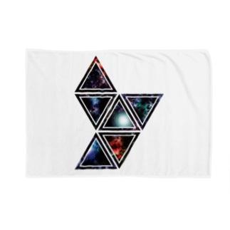 Cɐkeccooの宇宙★サンカク-いっぱい Blankets